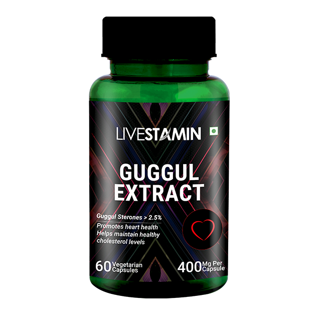 Livestamin Guggul Extract 60 Capsules - NutraC - Health & Nutrition Store