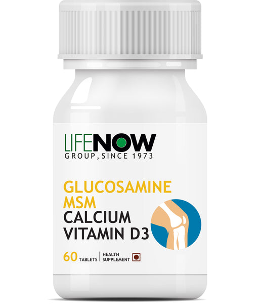 Lifenow Glucosamine,Msm With Calcium & Vitamin D3 For Joint Care Supplement - 60 Tablets - NutraC - Health & Nutrition Store
