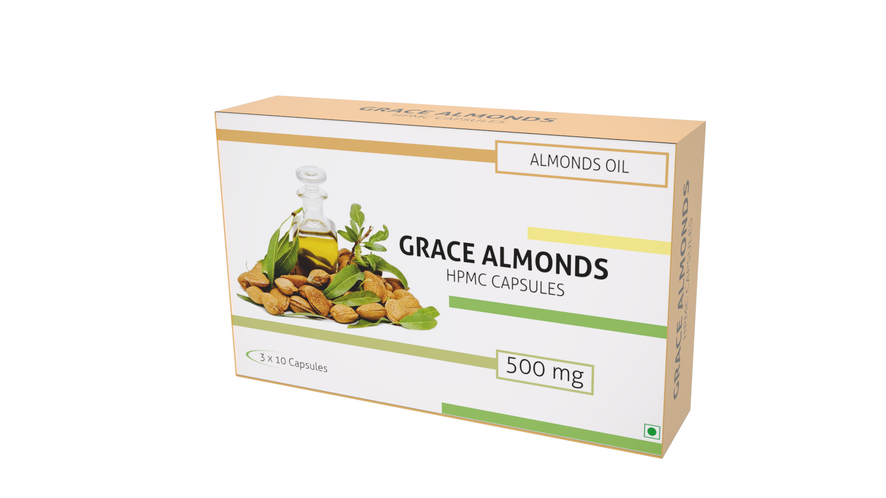 Nutra Grace Grace Almonds 30 Capsules - NutraC - Health & Nutrition Store