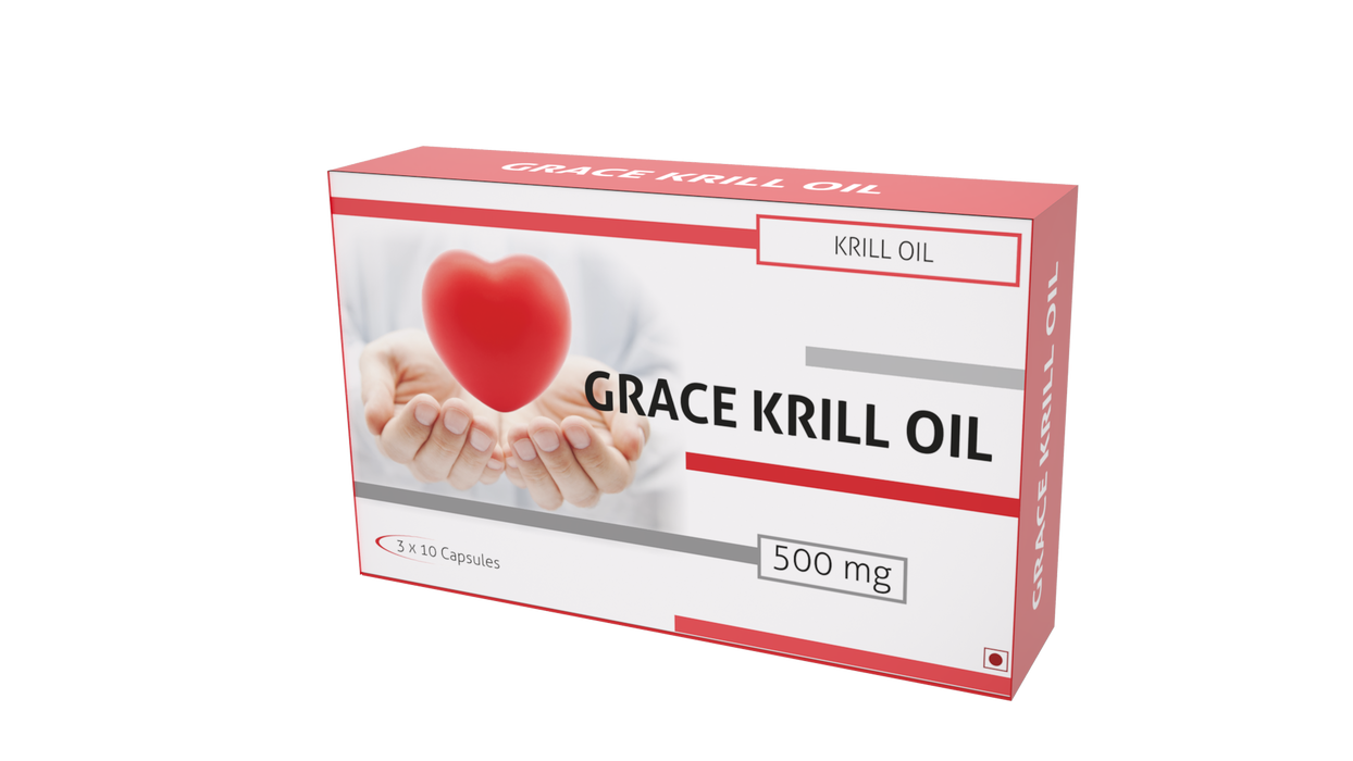 Nutra Grace Grace Krill Oil 30 Capsules - NutraC - Health & Nutrition Store