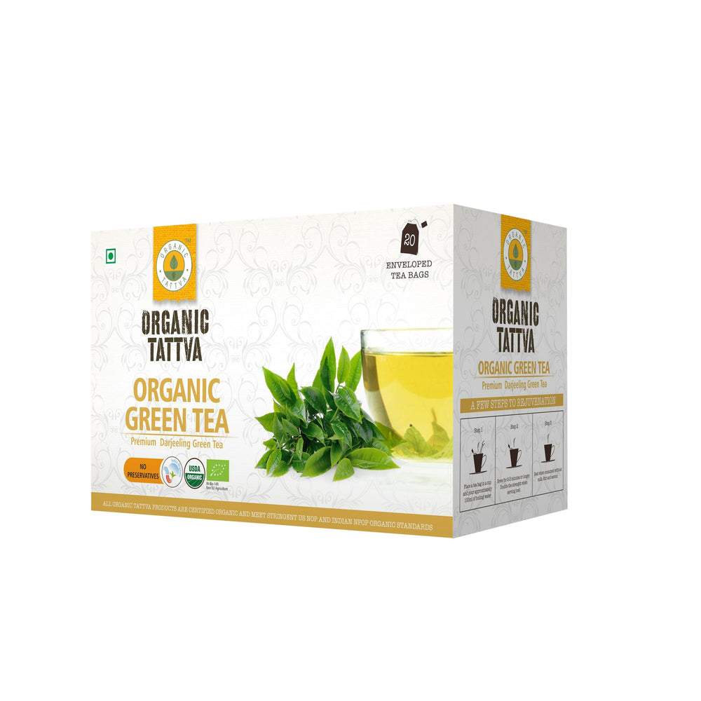 Organic Tattva Green Tea (20 teabags) - NutraC - Health & Nutrition Store
