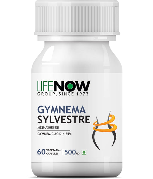 Lifenow Gymnema Sylvestre Supplement 500 mg - 60 Vegetarian Capsules