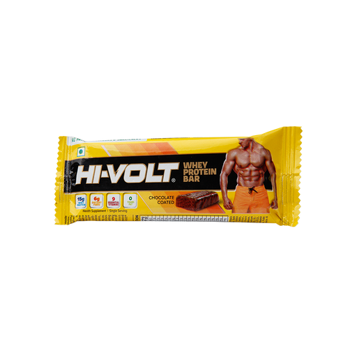 Hi-Volt Whey Protein Bar 45gm - Pack of 10 - NutraC - Health & Nutrition Store