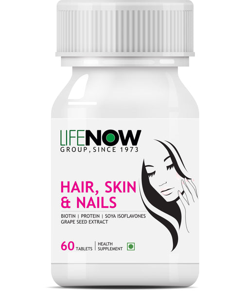 LIFENOW Hair Skin and Nails Biotin 10000mcg Multivitamin Hair Growth Supplement for Men Women - 60 Tablets - NutraC - Health & Nutrition Store