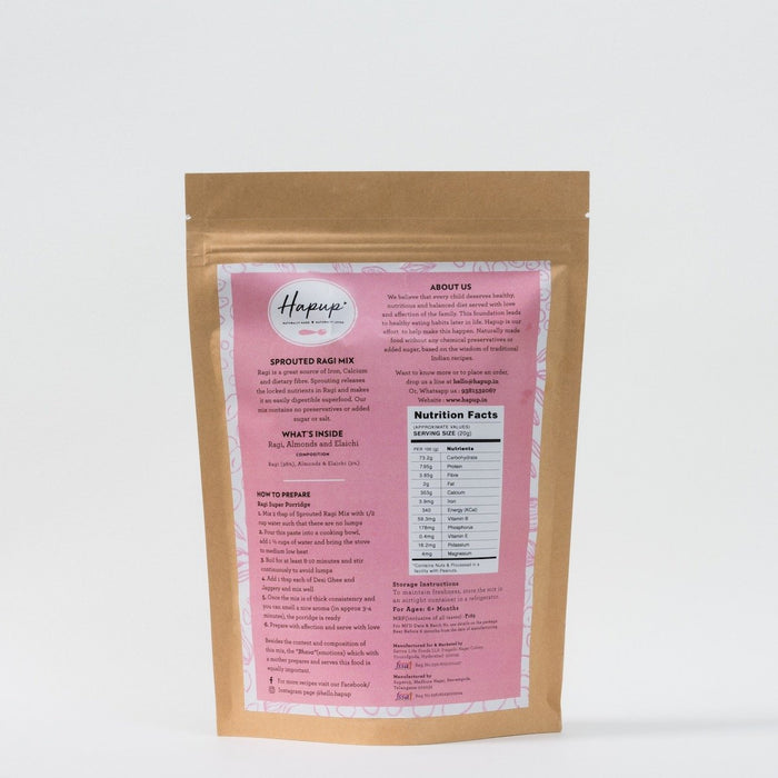 Sprouted Ragi Mix - NutraC - Health & Nutrition Store