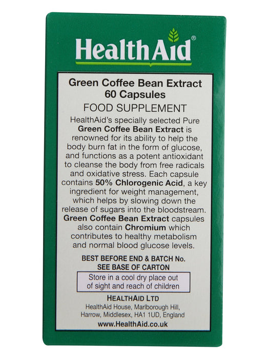 HealthAid Green Coffee Bean Extract with Chromium-60 Capsules - NutraC - Health & Nutrition Store