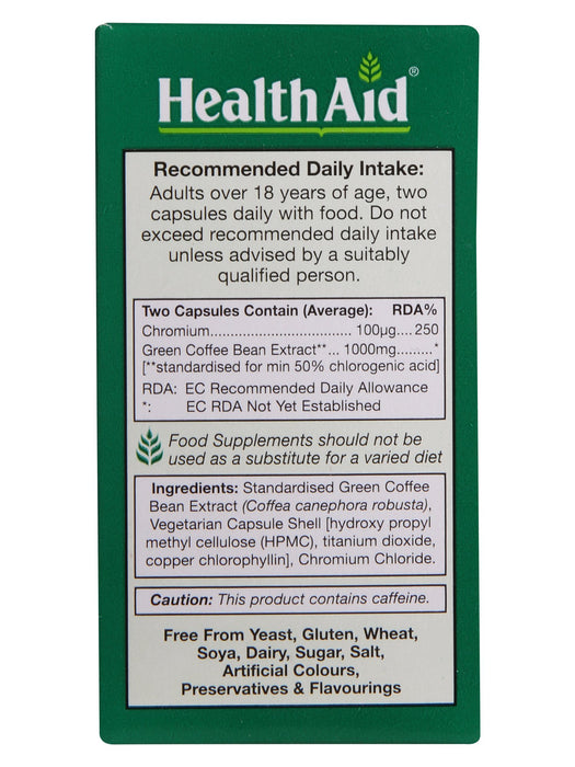 HealthAid Green Coffee Bean Extract with Chromium-60 Capsules