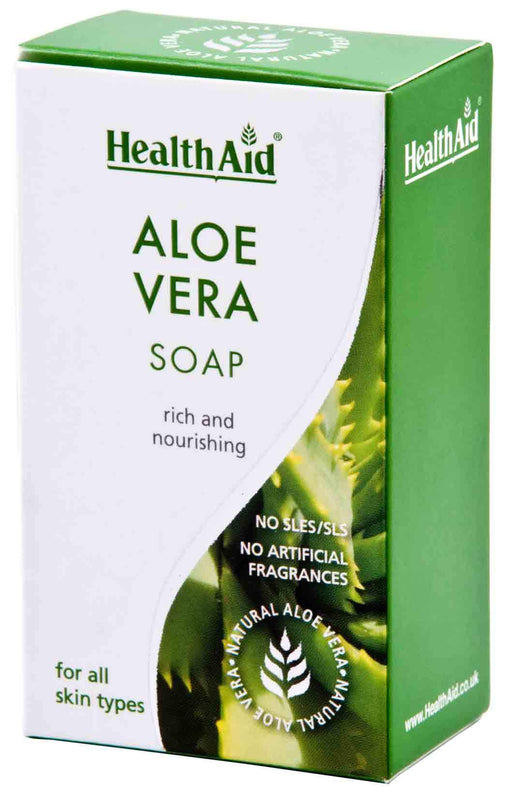 HealthAid Aloe Vera Soap-100grams - NutraC - Health & Nutrition Store
