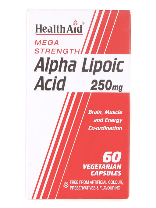 HealthAid Alpha Lipoic Acid 250mg ( Mega Strength)-60 Capsules