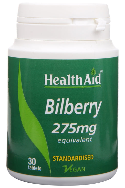 HealthAid Bilberry -30 Tablets - NutraC - Health & Nutrition Store