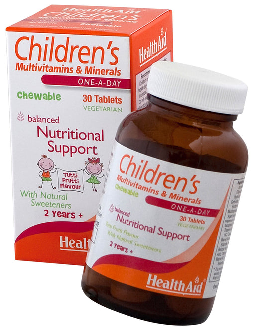 HealthAid Children's MultiVitamins & Minerals -30 Chewable Tablet - NutraC - Health & Nutrition Store