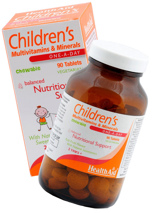 HealthAid Children's MultiVitamins & Minerals -90 Chewable Tablet - NutraC - Health & Nutrition Store