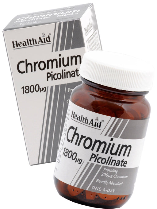 HealthAid Chromium Picolinate 200ug -60 Tablets - NutraC - Health & Nutrition Store