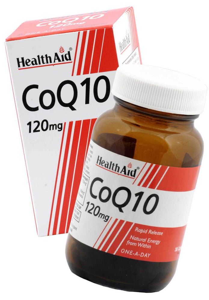 HealthAid CoQ10 120mg-30 Capsules - NutraC - Health & Nutrition Store