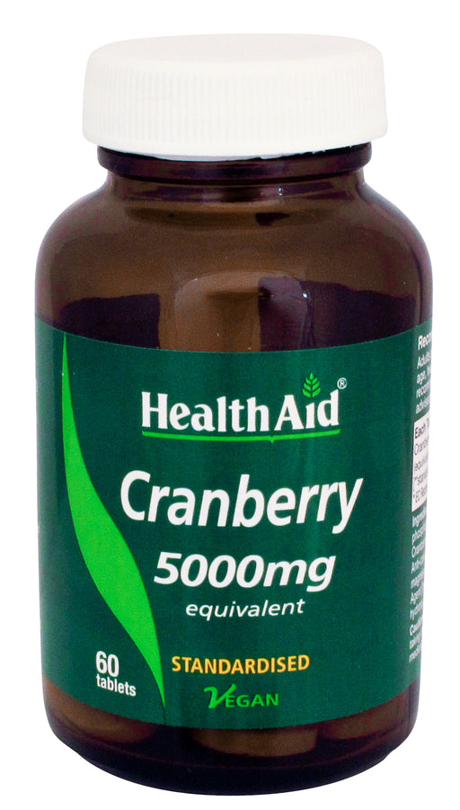 HealthAid Cranberry 5000mg (Equivalent) -60 Tablets - NutraC - Health & Nutrition Store