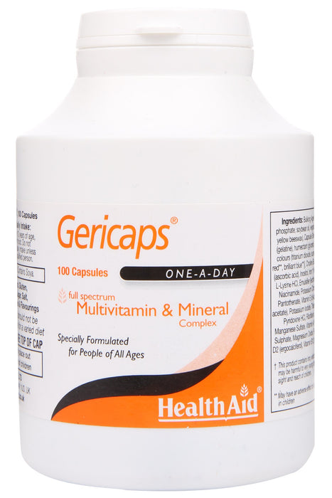 HealthAid Gericaps -100 Capsules - NutraC - Health & Nutrition Store