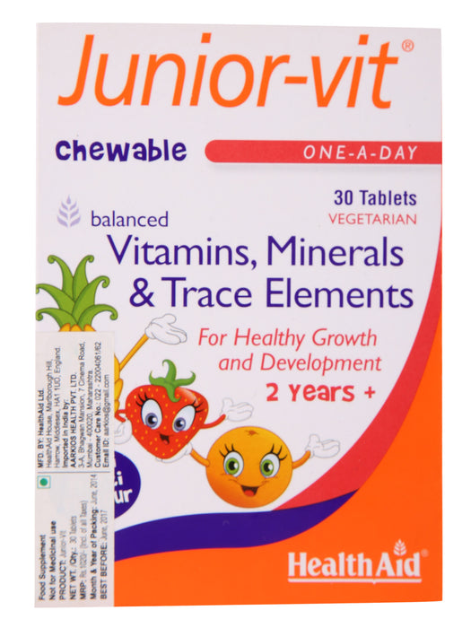HealthAid Juniorvit -30 Chewable Tablets - NutraC - Health & Nutrition Store