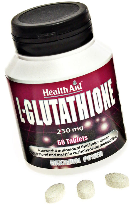 HealthAid L-Glutathione 250mg -60 Tablets - NutraC - Health & Nutrition Store