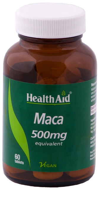 HealthAid Maca 500mg (Equivalent) -60 Tablets - NutraC - Health & Nutrition Store