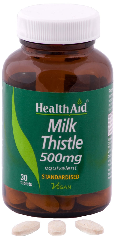 HealthAid Milk Thistle 500mg (Equivalent) -30 Tablets - NutraC - Health & Nutrition Store