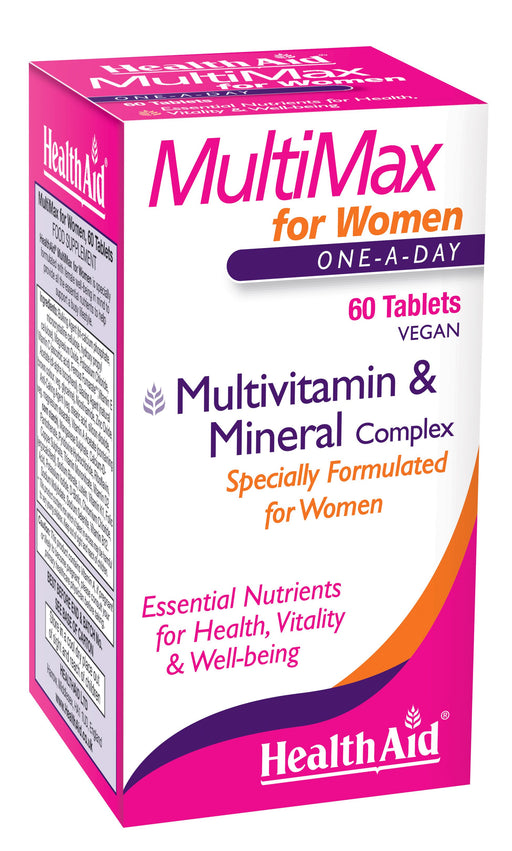 HealthAid MultiMax for Women-60 Tablets - NutraC - Health & Nutrition Store