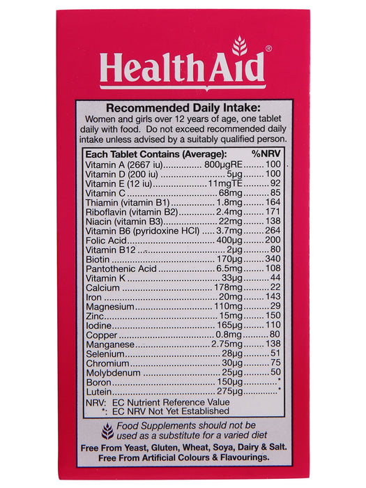 HealthAid MultiMax for Women-60 Tablets