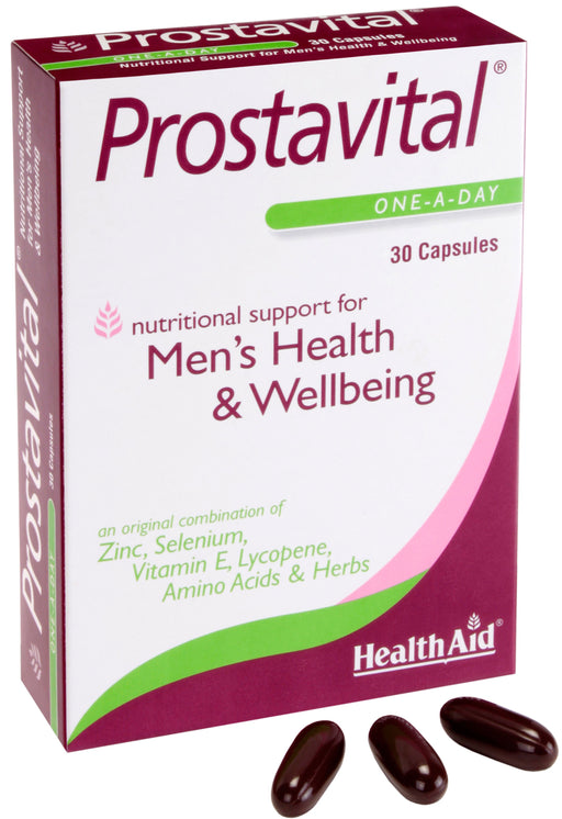 HealthAid Prostavital -30 Capsules - NutraC - Health & Nutrition Store