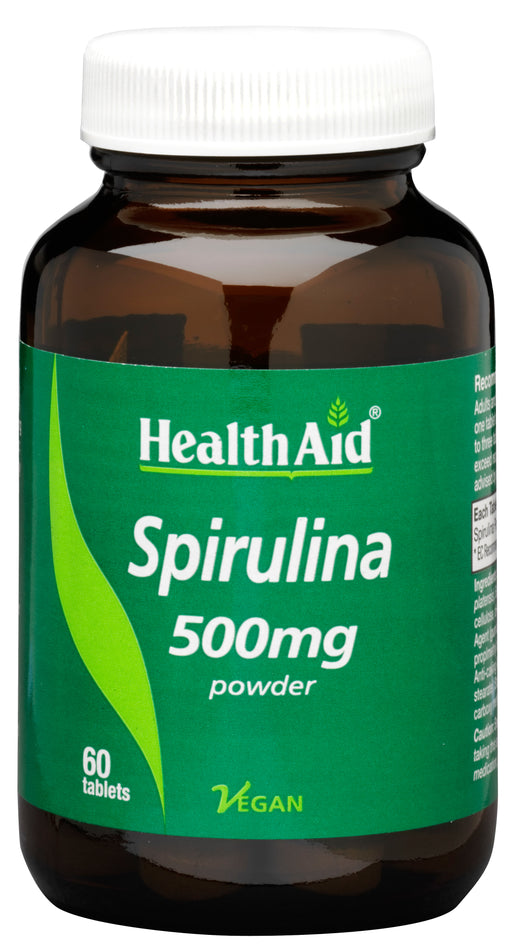 HealthAid Spirulina 500mg-60 Tablets
