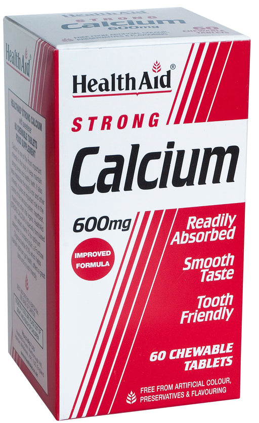 HealthAid Strong Calcium 600mg -60 Chewable Tablets - NutraC - Health & Nutrition Store