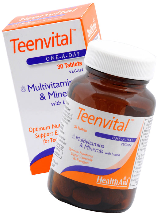 HealthAid Teenvital (Multivitamin & Minerals with Lutein) -30 Tablets - NutraC - Health & Nutrition Store
