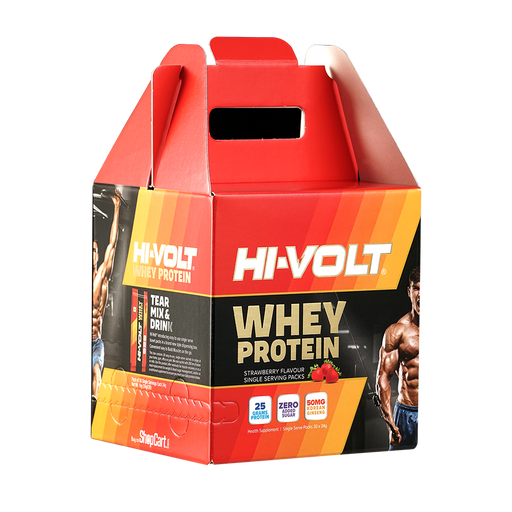 Hi-Volt Whey Protien 30`s (34 gm) - NutraC - Health & Nutrition Store