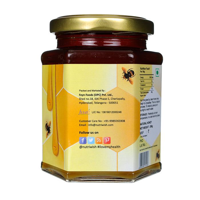 NUTRIWISH 100% Pure Honey - Infused With Lemon