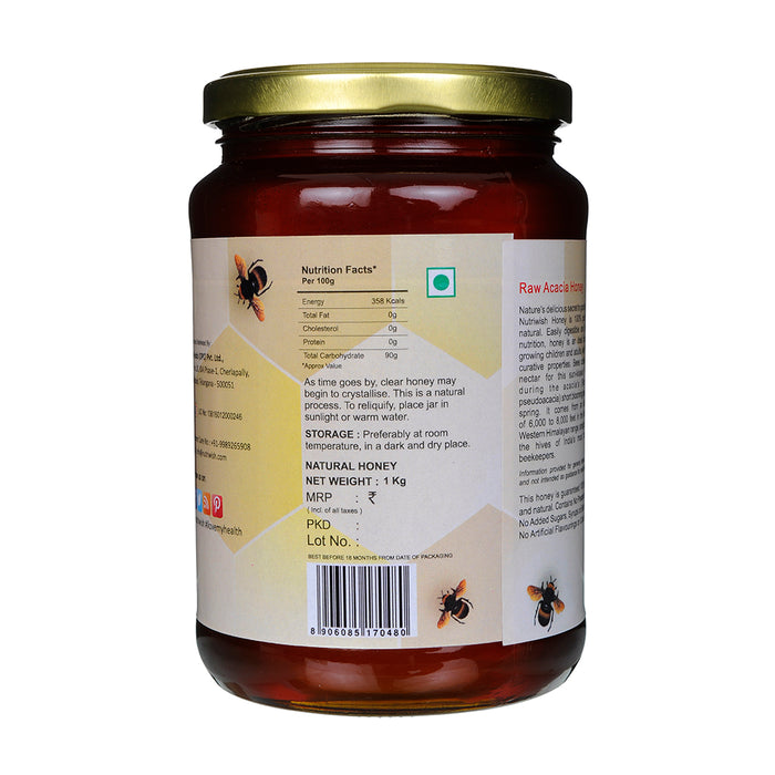 Nutriwish Acacia Honey - 100 % Pure Acacia Honey 1kg