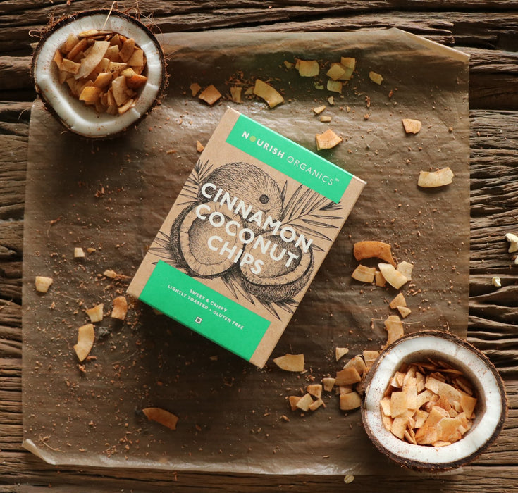 Nourish Organics Cinnamon Coconut Chips - NutraC - Health & Nutrition Store