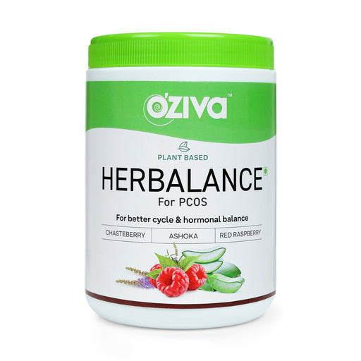 OZiva Plant Based HerBalance for PCOS 250g - NutraC - Health & Nutrition Store