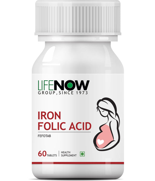 Lifenow Iron Folic Acid Supplement - 60 Tablets - NutraC - Health & Nutrition Store