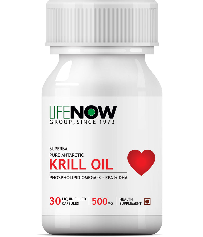 LIFENOW  Krill Oil Phospholipid Omega 3 with Astaxanthin 500mg - 30 Capsules