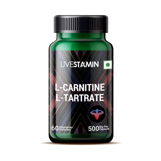 Livestamin L-Carnitine L-Tartrate 60 Capsules - NutraC - Health & Nutrition Store