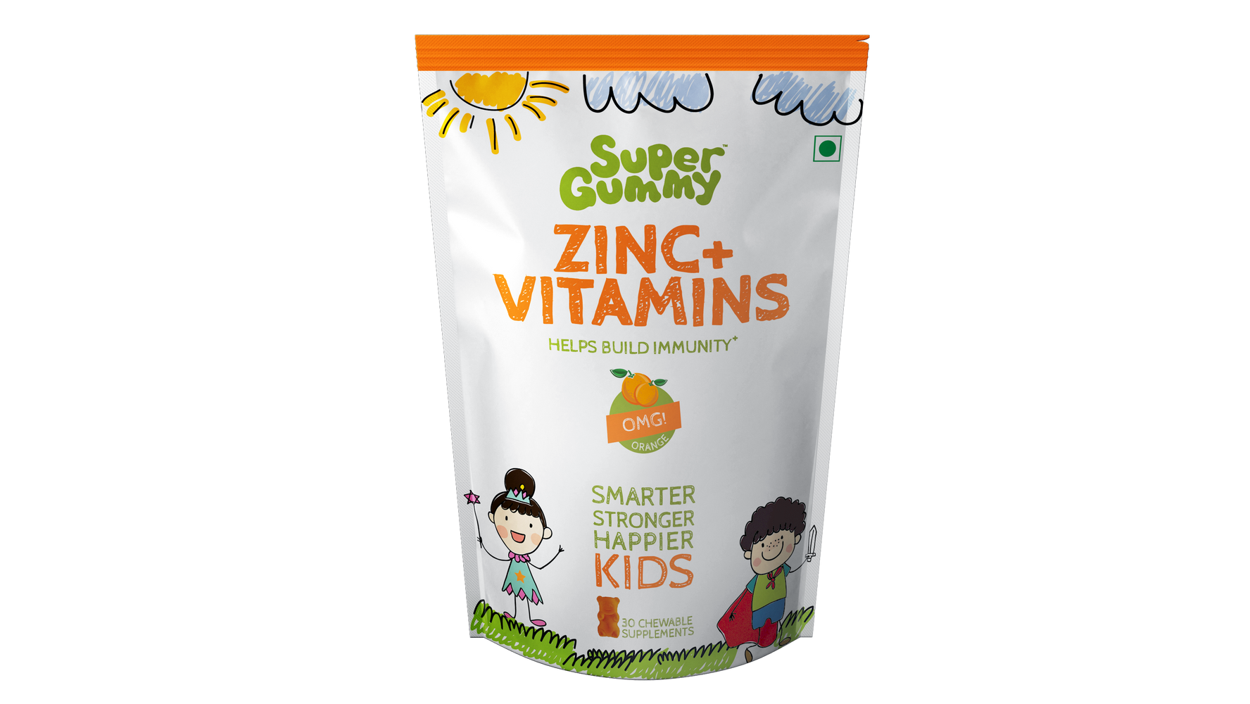 Super Gummy Zinc + Vitamins - 30 Chewable Supplements