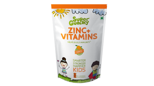 Super Gummy Zinc + Vitamins - 30 Chewable Supplements for Kids - NutraC - Health & Nutrition Store