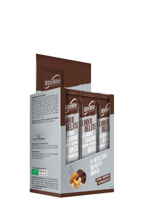 RiteBite Choco Delite Bars 480g - Pack of 12 - NutraC - Health & Nutrition Store