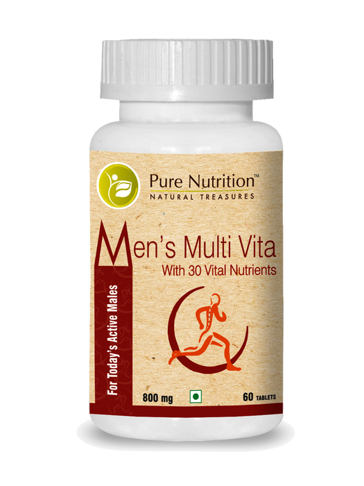 Pure Nutrition Men's Multivitamin with 30 Vital Nutrients - 60 Tablets