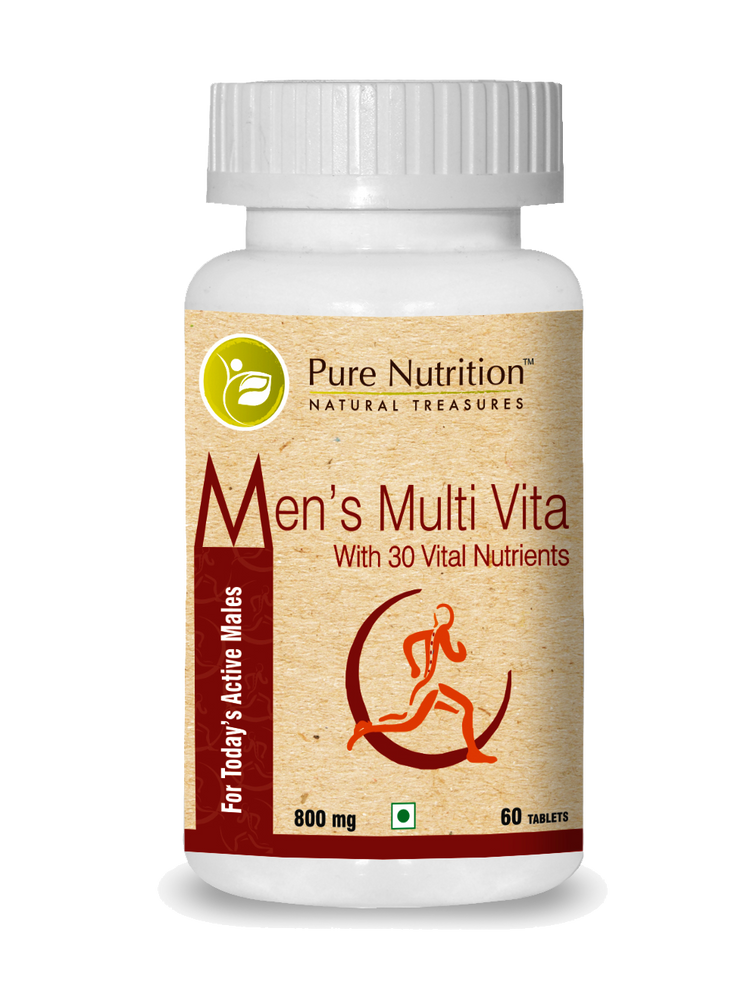 Pure Nutrition Men's Multivitamin with 30 Vital Nutrients - 60 Tablets - NutraC - Health & Nutrition Store