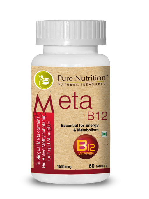 Pure Nutrition Meta B12 Methylcobalamin - 1500mcg - 60 Tablets