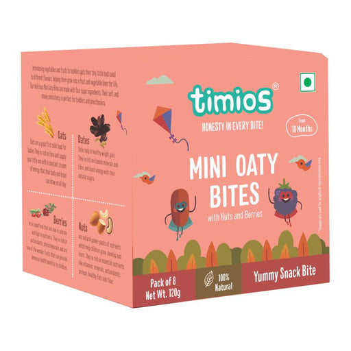 Timios Mini Oaty Bites Pack of 8 - NutraC - Health & Nutrition Store