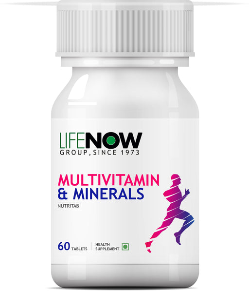 Lifenow Multivitamins & Minerals Amino Acids Antioxidants with Ginseng Extract for Men Daily Formula Vitamins Supplement - 60 Capsules - NutraC - Health & Nutrition Store