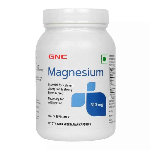GNC MAGNESIUM 310 MG 120 CAPSULES - NutraC - Health & Nutrition Store