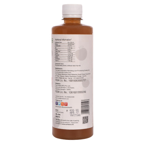 Nutriwish Vinegar - Raw, Unflitered Apple Cider With Mother & Honey 500ml - NutraC - Health & Nutrition Store