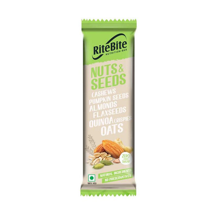 RiteBite Nuts & Seeds Bar 420g - Pack of 12 - NutraC - Health & Nutrition Store