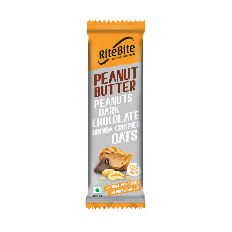 RiteBite Peanut Butter 40g - Pack of 1 - NutraC - Health & Nutrition Store